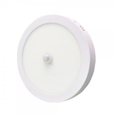 Plafoniera LED Rotunda cu Senzor Miscare 18W 22cm Alb Rece 6000K TKO