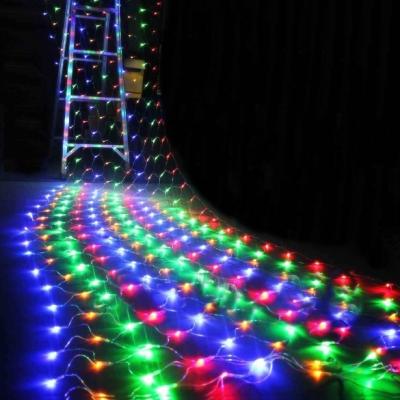 Plasa Luminoasa Exterior 5x1m 136LED Multicolor Fir Alb Cauciucat P 9117M