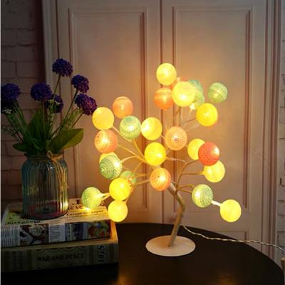 Pomisor Decorativ Luminos 30cm 24LED Cotton Ball Multicolor TO1904