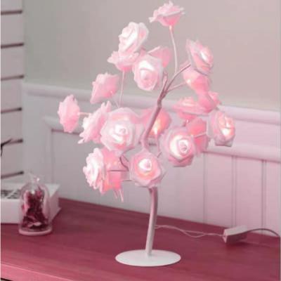 Pomisor Decorativ Luminos 30cm 24LED Trandafir Roz TO1903