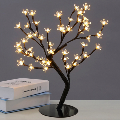 Pomisor Luminos de Craciun Cherry Bonsai 40cm 36LEDuri Alb Cald