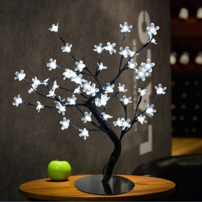 Pomisor Luminos de Craciun Cherry Bonsai 40cm 36LEDuri Alb Rece