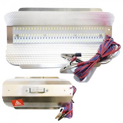 Proiector Led SMD 50W cu Reflector Aluminiu, Cablu Clesti 12V CaiCai