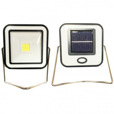 Proiector COB LED 10W Alb Rece Incarcare Panou Solar si la USB RYT913