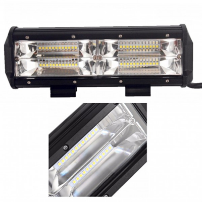 Proiector LED Bar Auto Offroad 48LED 144W 23cm 12V/24V