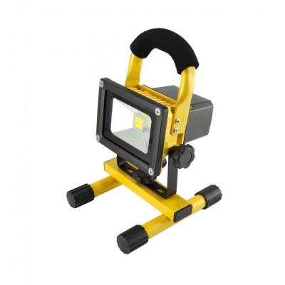 Proiector LED cu Acumulator 10W 12V 220V Alb Rece