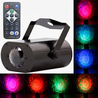 Proiector Lumini Disco Efect Reflexie Apa cu Telecomanda Waterwave