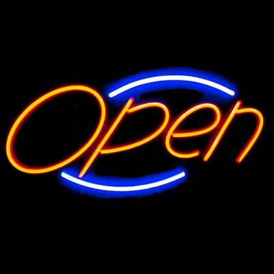 Reclama Luminoasa cu LEDuri tip Neon 220V CONTUR Open 60x30cm