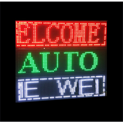 Reclama Luminoasa LED Programabila USB Alb INTERIOR 70x20cm