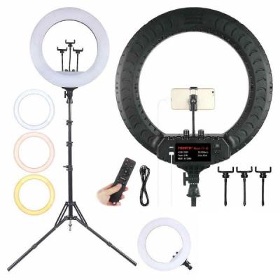 Ring Light Lampa Circulara LED 2700K-6500K cu Telecomanda RL18 M45