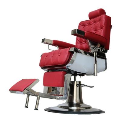 Scaun Salon Frizerie Coafor Reglabil Rotativ David2 3308A Rosu