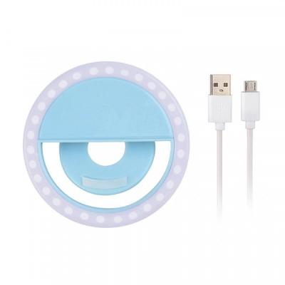 Inel Luminos Selfie Ring Light USB Clips Mini Lampa LED Soft 8.5cm