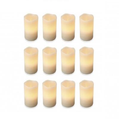 Set 12 Lumanari Ceara Electrice LED Flacara Mobila care Palpaie 10x7.5cm