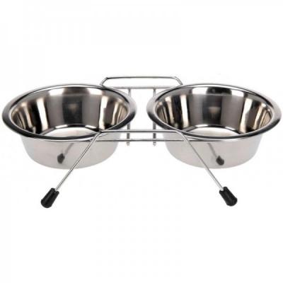 Set 2 Castroane inox Caini, suport metalic, 2x1800ml Grunberg GR2987