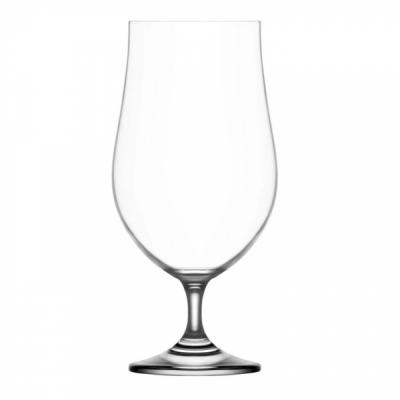 Set 24 Pahare Sticla Cristalina cu picior Bere 380ml Gusto LAV 173