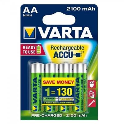 Set 4 Acumulatori Varta AA 2100mAh 1.2V Ni-Mh Ready to Use