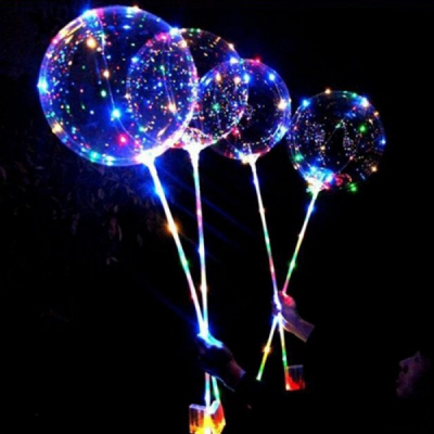 Set 50 Instalatii LED Snur Fairy Lights Multicolore pe Baterii Bobo Balon