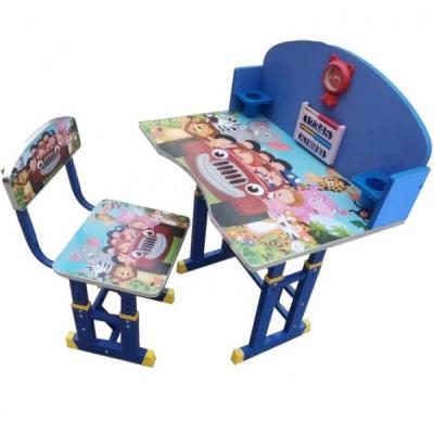 Set Birou si Scaunel Copii 3-10Ani  Reglabila Jolly Kids KT0538 Blue