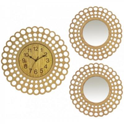 Set Ceas de Perete cu Doua Oglinzi Decorative Grunberg KLJ3074