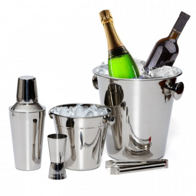 Set Cocktail Shaker, Frapiere, Cleste, Pahar INOX Grunberg GR2431