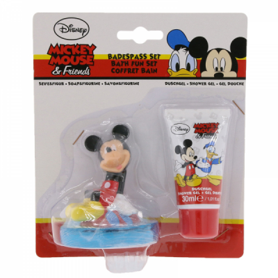 Set Copii Gel Dus si Sapun Figurina Mickey 3D 30ml Disney BC203030000