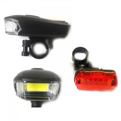 Set Lanterna COB LED 5W si Stop Rosu Semnalizare Bicicleta BL508
