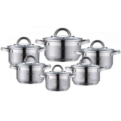 Set 6 oale inox cu capace 12 piese Bohmann BH0717