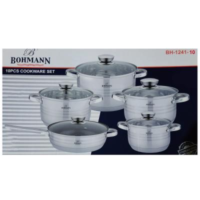 Set Oale Inox 10 Piese cu Capace Bohmann BH124110