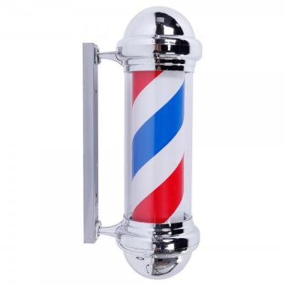 Sigla Luminoasa Rotativa Salon Frizerie Barber Pole 45cm
