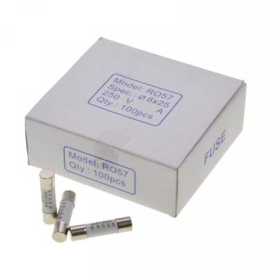 Siguranta Rapida 6x25mm de Ceramica 0.5A Set 100buc SIGCER62505