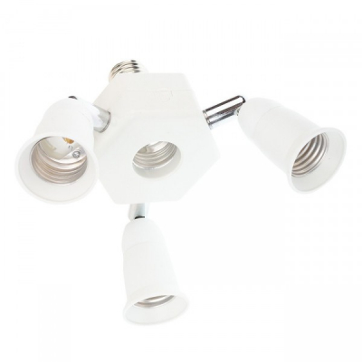 Spliter Adaptor Modular Dulie Bec cu E27 la 4xE27