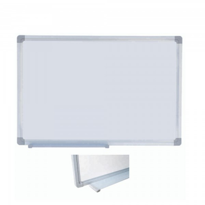 Tabla Magnetica Alba cu Rama Metal si Suport Markere 40x60cm