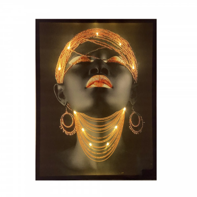 Tablou Spectaculos Canvas Iluminat LED pe Baterii 60x90cm FN1 Gold
