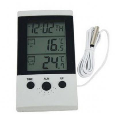 Termometru Digital cu Ceas si Alarma WSD2B