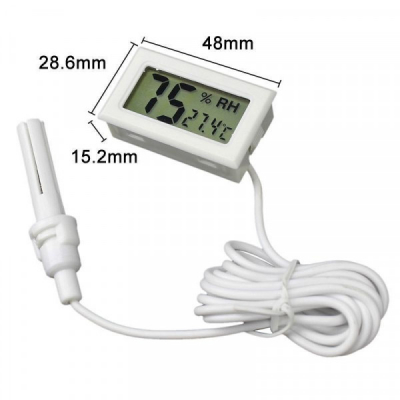 Termometru Digital cu Umiditate Int/Ext -50C +70Celsius