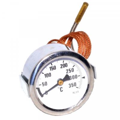 Termometru Metalic 0-350C cu Fir de Cupru si Sonda Alama