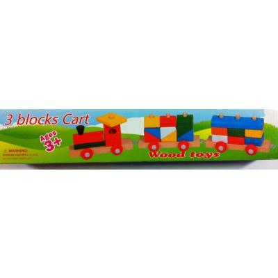 Trenulet tip lego din Lemn Jucarie Copii