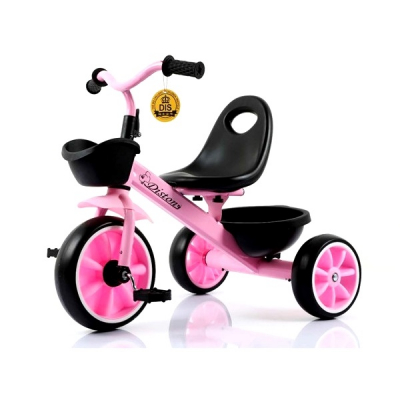 Tricicleta pentru Copii Max. 3 Ani 15Kg Jolly Kids DS902 Roz