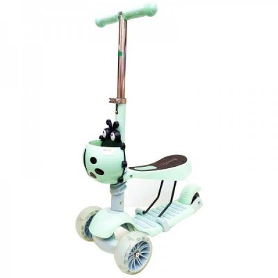 Trotineta Copii cu Cos Micro Scooter 3in1 2-7 Ani 25Kg Turcoaz