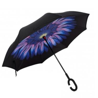 Umbrela de ploaie reversibila 100cm Imprimeu Interior Floare UM001