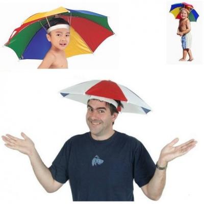 Umbrela pentru Cap, Umbreluta Colorata cu Elastic, Prindere pe Cap