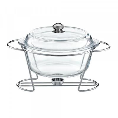 Vas Cald Dish Sticla Termorezistenta 1 Lumanare 4L Florina Ferro