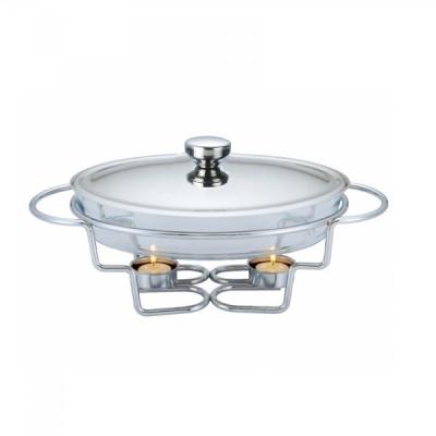 Vas Cald Sticla Termorezistenta 2 lumanari 3L Pyrex Chafing Dish