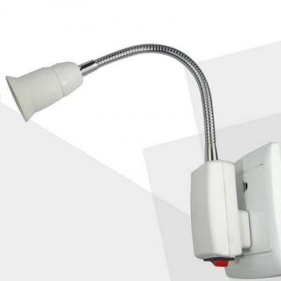 Veioza Lampa Veghe Brat Flexibil Becuri E27 220V Lamp Holder Converter