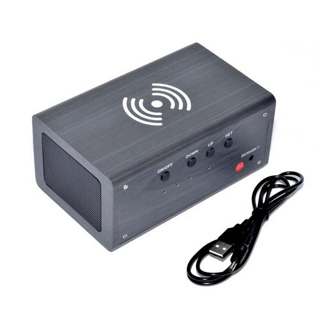 Boxa Bluetooth V4.1 cu Ceas Digital, Incarcator Wireless Integrat WSS