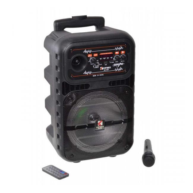 Boxa Karaoke Bluetooth Microfon Radio Telecomanda 49x29x25cm 12W QS807