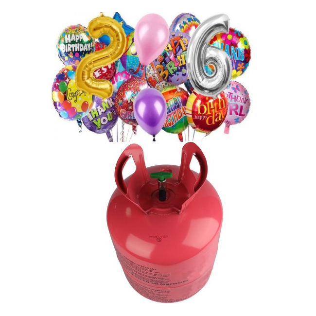 Butelie cu Heliu de Unica Folosinta 0.25mc Umfla maxim 30 Baloane