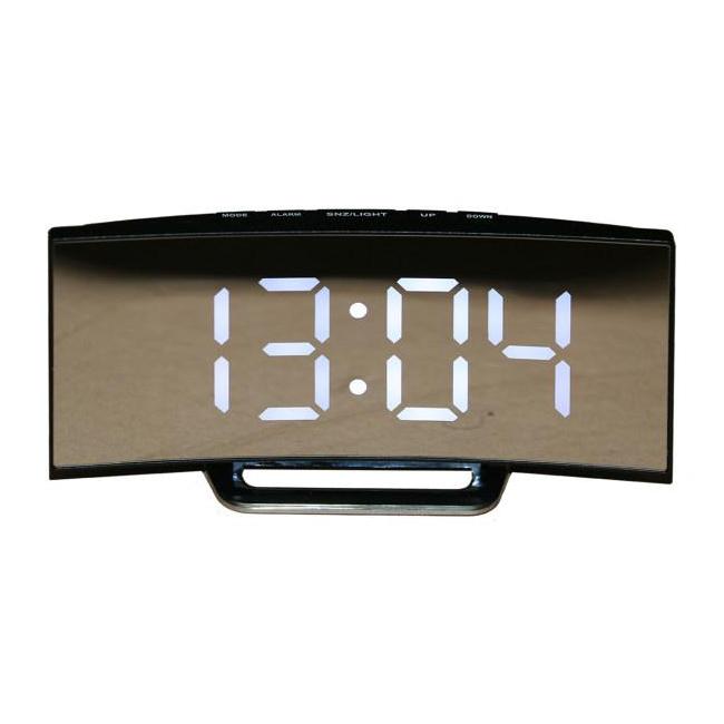 Ceas Oglinda Digital tip LCD LED la USB DT6507 Lumina Alba