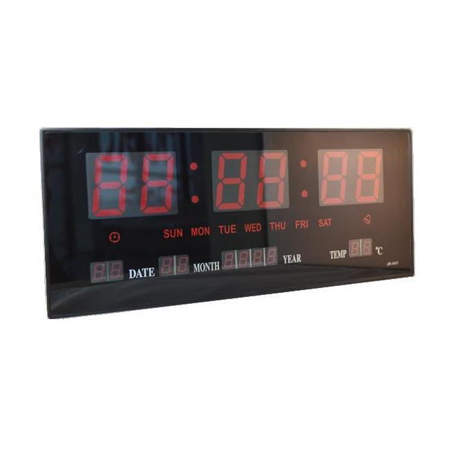 Ceas Electronic de Perete cu LED Rosu 220V JH3615