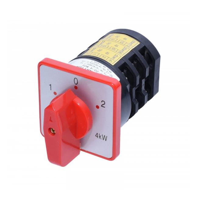 Comutator Combinat cu Came 1-0-2 3 Perechi Contacte 20A 4kW 204M05